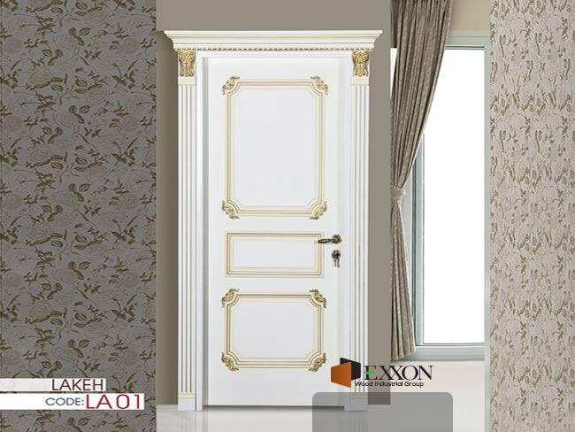 درب داخلی رنگ پلی اورتان پوششی سری LAKEH مدل LA01