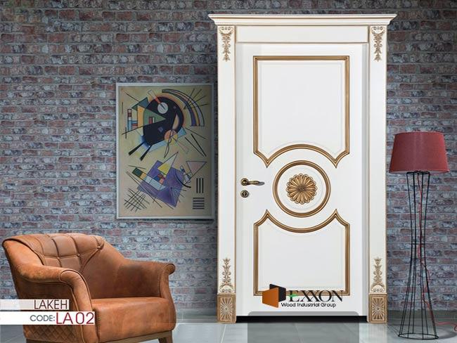 درب داخلی رنگ پلی اورتان پوششی سری LAKEH مدل LA02