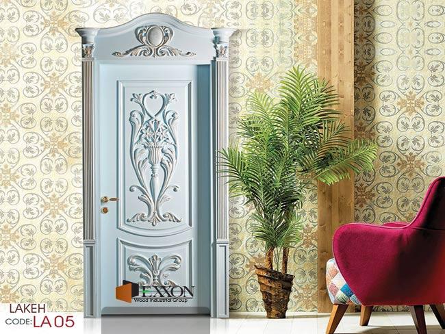 درب داخلی رنگ پلی اورتان پوششی سری LAKEH مدل LA05