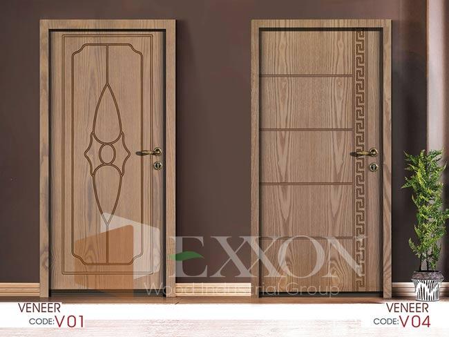 درب داخلی روکش چوب سری VENEER مدل V01 و V04