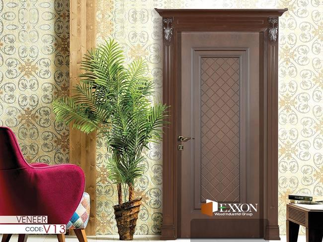 درب داخلی روکش چوب سری VENEER مدل V13